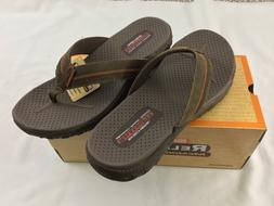 Skechers Men's Thong Flip Flops Memory Foam Relaxed Fit 36