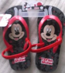 DISNEY MICKEY MOUSE FLIP-FLOPS - SLIP-ONS - LARGE  - NEW WIT