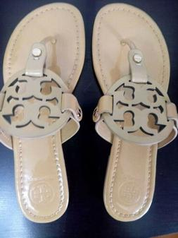Tory Burch Miller Sandal Size  7  Sand Patent shipping @1