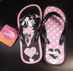 Disney Minnie Women's Size 7/8 Black, Pink & White Polka Dot