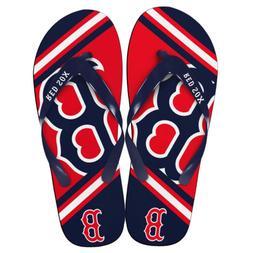 MLB Boston Red Sox Flip Flops Thong Sandals Beach Navy Blue