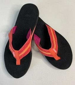 TEVA MUSH || Flip Flops Size 8 Womens Striped Slip On Thongs
