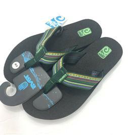 Teva Mush ll Women's Size 6 US Thong Flip Flops Green Mult