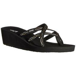 Teva Mush Mandalyn Wedge 2 Womens Knot Metallic Sandals