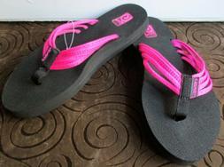 Teva Mush Pink Strappy Flip Flops Sandals Women's Size 6 ~NW