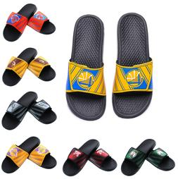 NBA Basketball 2017 Mens Legacy Logo Sport Slide Sandals Fli