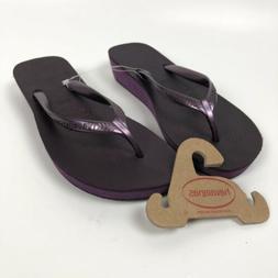 NEW Havaianas 39-40 US W 9-10 Flip Flops High Fashion Purple