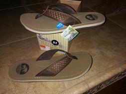 NEW $49 Mens Margaritaville Peru Flip Flops, size 14   shoes