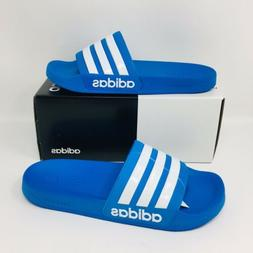*NEW* Adidas Adilette Shower Men Slide Blue White Slippers F