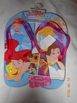 New Disney all the Princesses flip flops sandals shoes in a