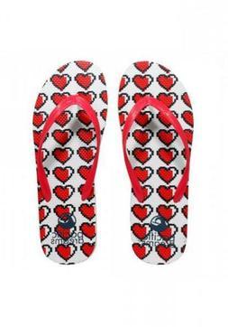 New & Trendy Flip Flop Sandals for Women Red Hearts Emoji -