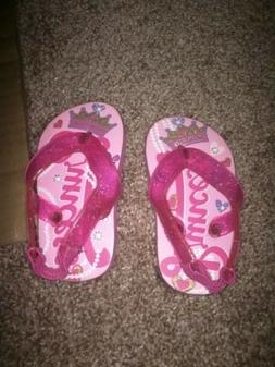 NEW Baby Girl Pink Princess Casual Sandals / Flip Flops Si