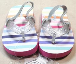 NEW CARTER'S SIZE 1-2 SILVER SPARKLE COLORFUL STRIPED BABY G