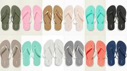 NEW Old Navy Classic Flip Flops Women Black Blue Silver Oliv