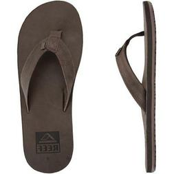 New Reef Crew Leather Sandals/Flip Flops Dark Brown Men 9 Th