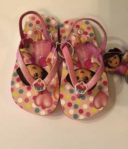 New Dora Cupcake Sandals Flip Flops Shoes Toddler Size 9-10