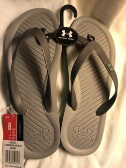 Under Armour New Flip Flops  Men's Size 8 Gray