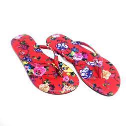 NEW Kali Footwear Women's Focus Glitter Flip Flops  Red Flow