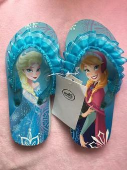 New Disney Frozen Flip Flops Size 2/3 Girls Sandals