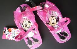 New Girls Minnie  Mouse  pink flip flops size 9/10