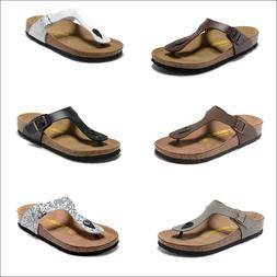 New Birkenstock Gizeh Women Men Leather Flip Flops Birko Flo