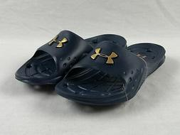 Under Armour Sandals & Flip Flops Navy/Gold Used Multiple Si