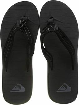 NEW Quiksilver Men's Carver Suede 3-Point Athletic Flip Flop