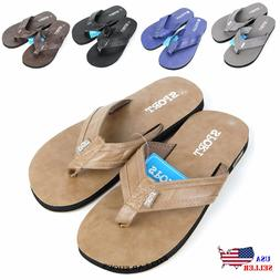 NEW MEN'S SPORTS THONG BEACH POOL INDOOR OUTDOOR FLIP FLOPS