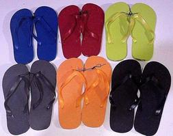 New Men's Unisex Flip Flops/Shower Shoes Blue, Orange, Black