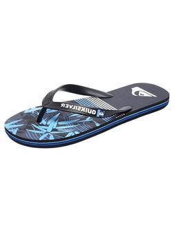 NEW QUIKSILVER Molokai ZEN Flip-Flops AQYL100658  Blue Beach
