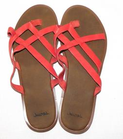 NEW NWOB WOMENS SIZE 8 SANUK YOGA STRAPPY SANDALS TOMATO RED