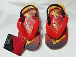 NEW NWT Disney Boys Cars Lightning McQueen Flip Flops Size 5