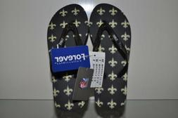 New Orleans Saints Women Glitter Logo Flip Flops by Forever