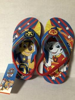 NEW Nickelodeon Paw Patrol Sandals 9/10 Toddler Boys Chase M