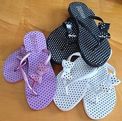 NEW Polka Dot Flip Flops with Bow - Various Sizes