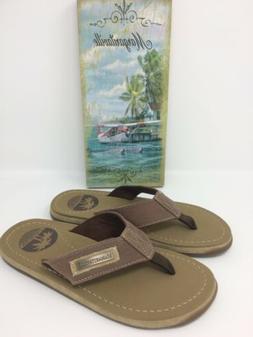 New Margaritaville Quicksand Brown Mens Size 7 Thong Sandals