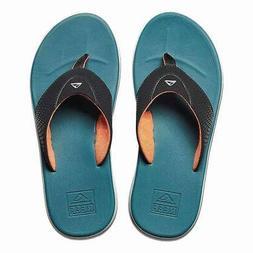 New Reef Rover Sandals/Flip Flops Black/Blue/Orange Men's 9/