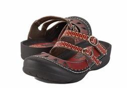New Corkys Women's Boulder Shoe Casual Flip Flops 6 B US Red