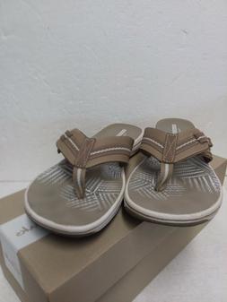 NEW! Clarks-Sandals-Brinkley-Jazz-Womens-Flip-Flop-Size 9 M