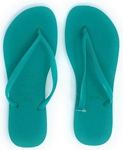Havaianas New Slim Flip Flops Womens Sandals Mint Green Size
