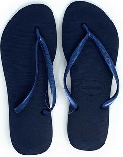 Havaianas New Slim Flip Flops Womens Sandals Navy Blue Choos
