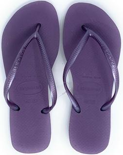 Havaianas New Slim Flip Flops Womens Sandals Petunia Purple