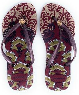 Havaianas New Slim Flip Flops Womens Sandals Royal Beetroot