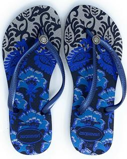 Havaianas New Slim Flip Flops Womens Sandals Royal Blue Choo