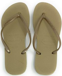Havaianas New Slim Flip Flops Womens Sandals Sand Grey/Light