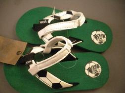 NEW Reef Soccer Ball Sandals flip flops Strap Back Boys Size