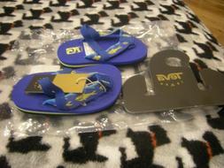New Toddler Boys Blue & Yellow Teva Mush II Flip Flops, Size