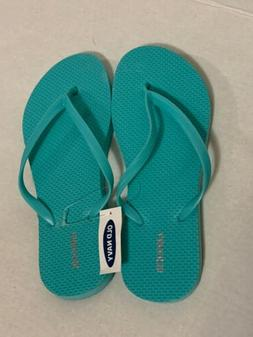 NEW OLD NAVY Woman's Flip Flops Sandals Shoes Teal sz 10