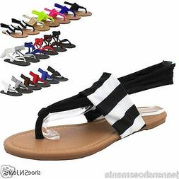 New Women Summer Beach Flip Flop Lace Up Yoga Shoes Thong Fl