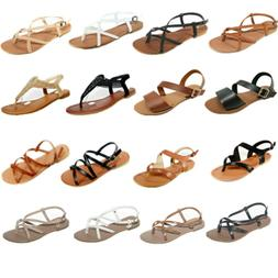 New Women Gladiator Sandals Shoes Thong Flops T Strap Flip F